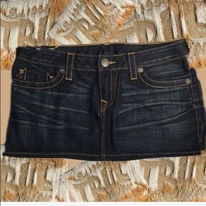 True Religion denim skirt